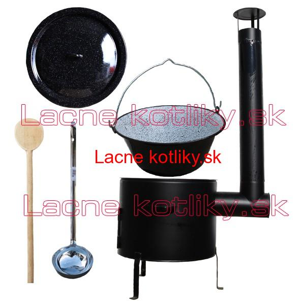 Smaltovaný kotlík 16 L + kotlina 39 cm  Easy party (KOV)